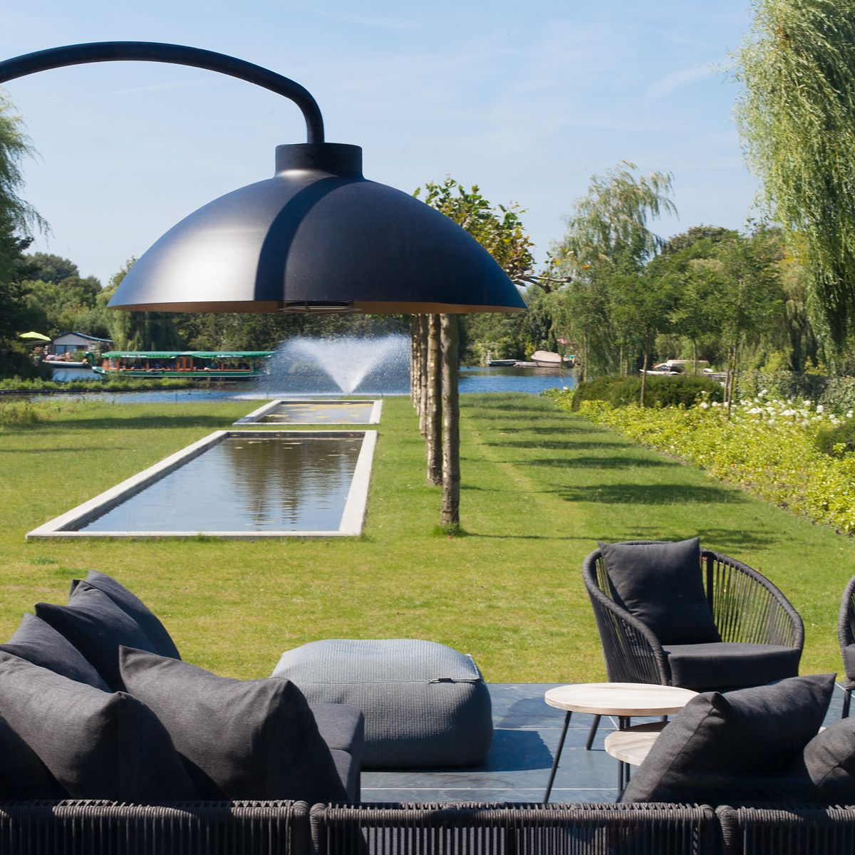 lampe chauffante exterieure dome arc heatsail zendart design. Black Bedroom Furniture Sets. Home Design Ideas