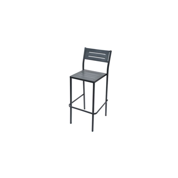 Ensemble de Jardin Table Haute Tabouret Dorio Anthracite RD ITALIA