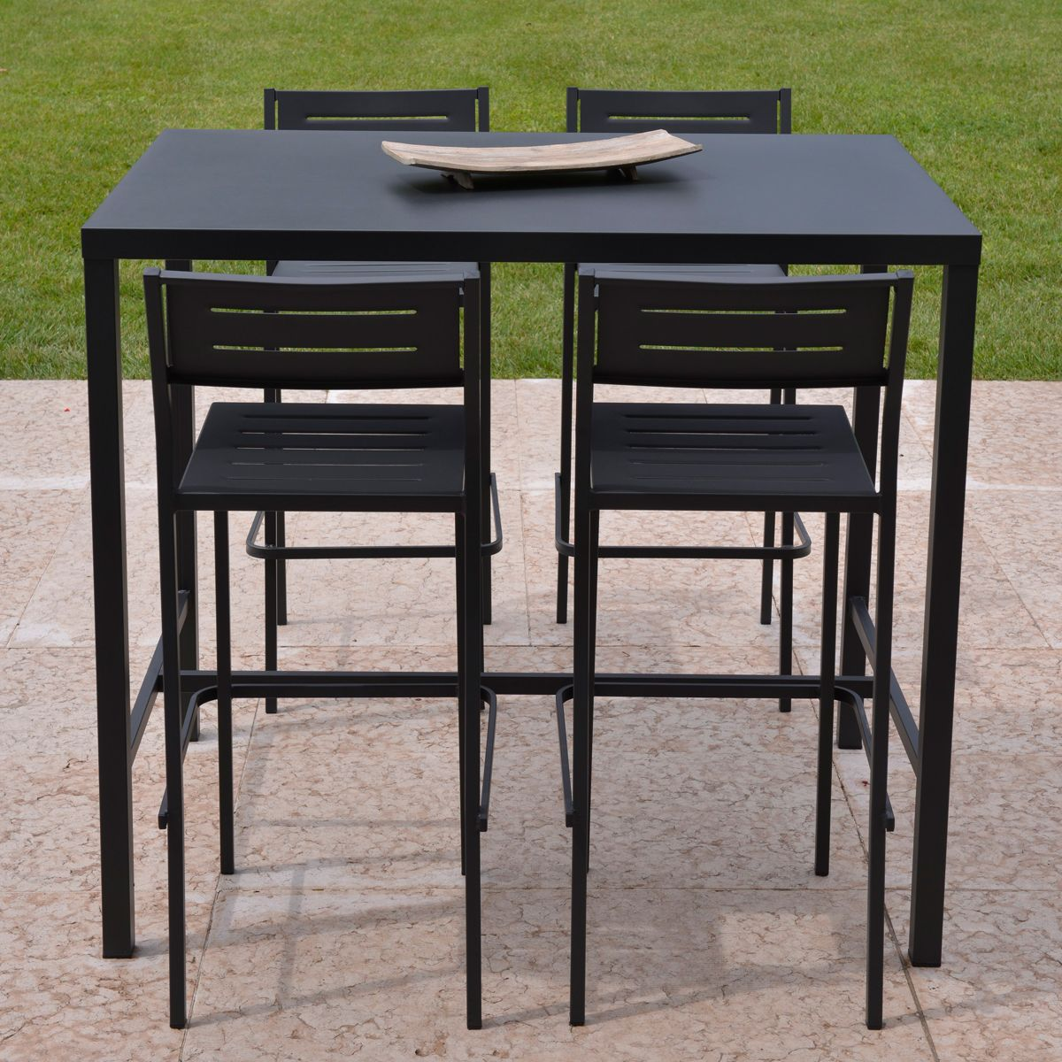 Ensemble de jardin table haute tabouret dorio rd italia for Table de bar haute but
