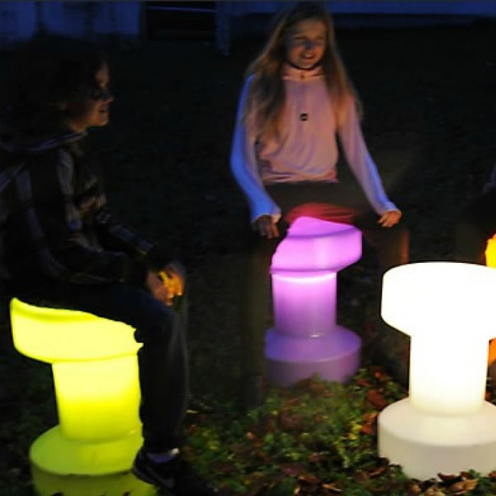 Tabouret design lumineux BLOOM