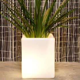 Pot lumineux BLOOM Square 50 cm