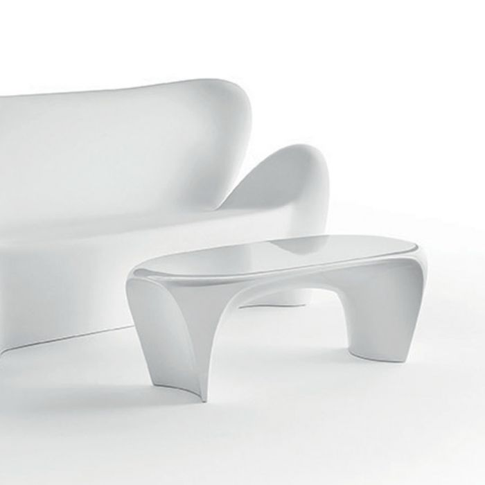 Table basse design MYYOUR Lily, émaillé brillant