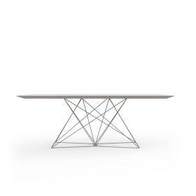 Table de repas design Faz Inox Full White Vondom