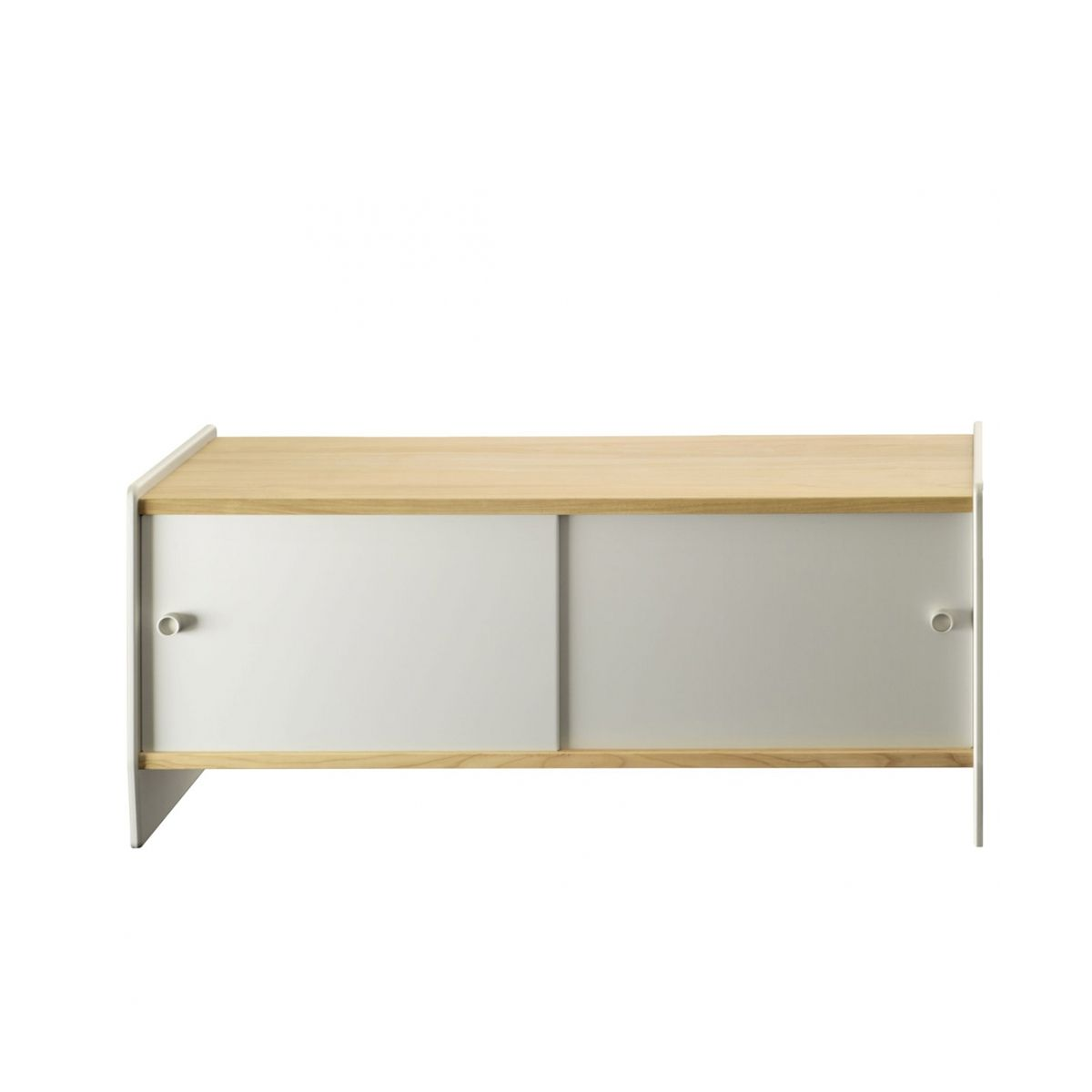Buffet bas design theca en mdf plaqu par magis for Buffet bas design