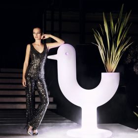 Pot design VONDOM Peacock, lumineux