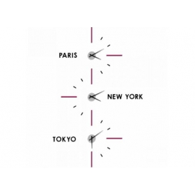 Horloge a personnaliser design Miami & Capitales WALL2TIME