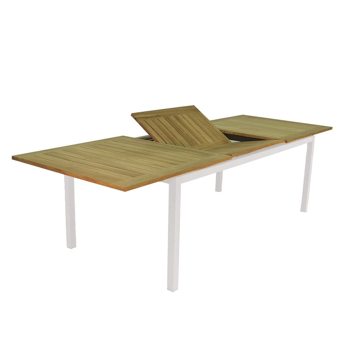 Table de jardin extensible jupiter tresi zendart design - Table de jardin extensible en plastique ...