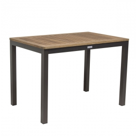 Table de jardin Aluminium et Balau design Jupiter TRESI