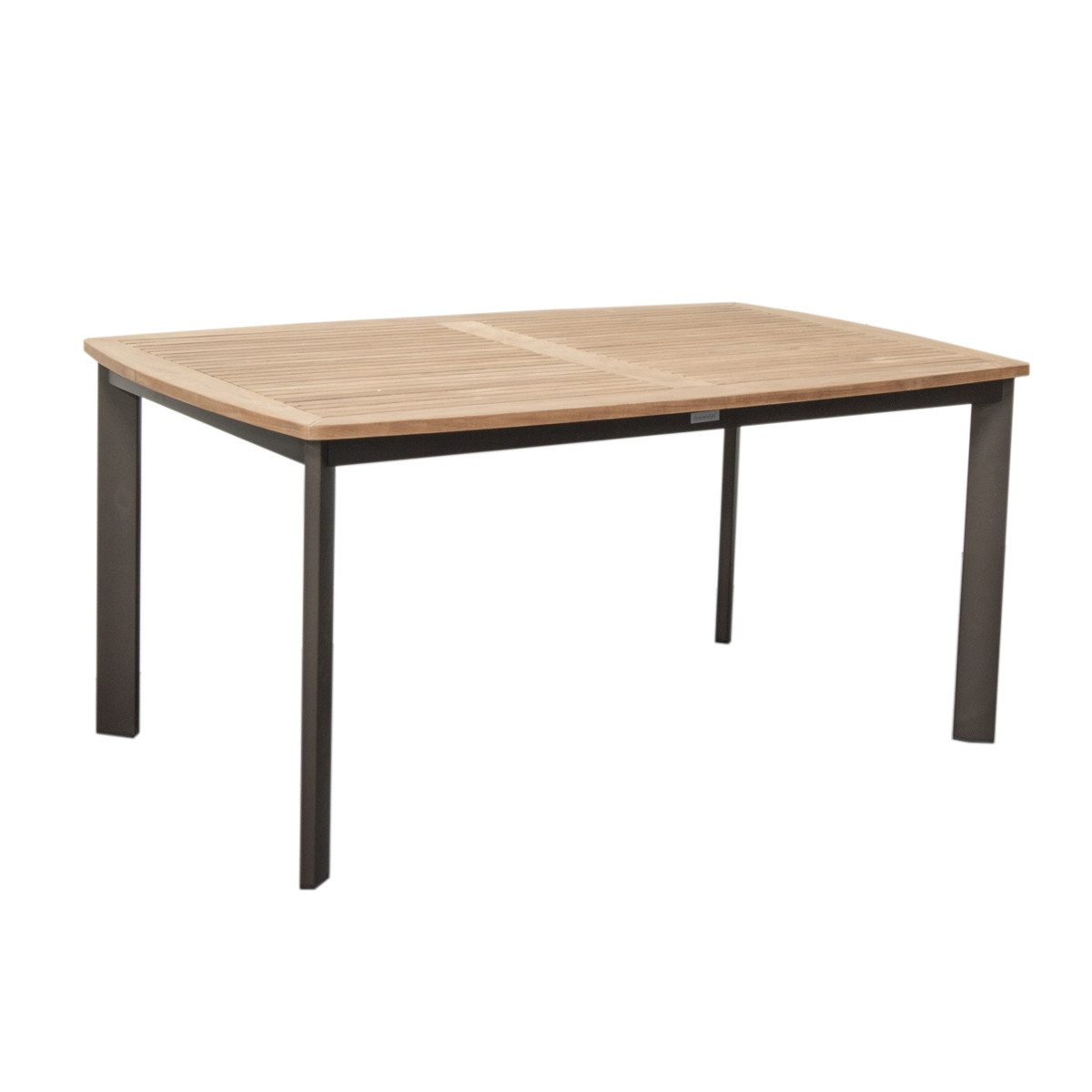 Table de jardin en aluminium teck neo tresi zendart design - Table de jardin design ...