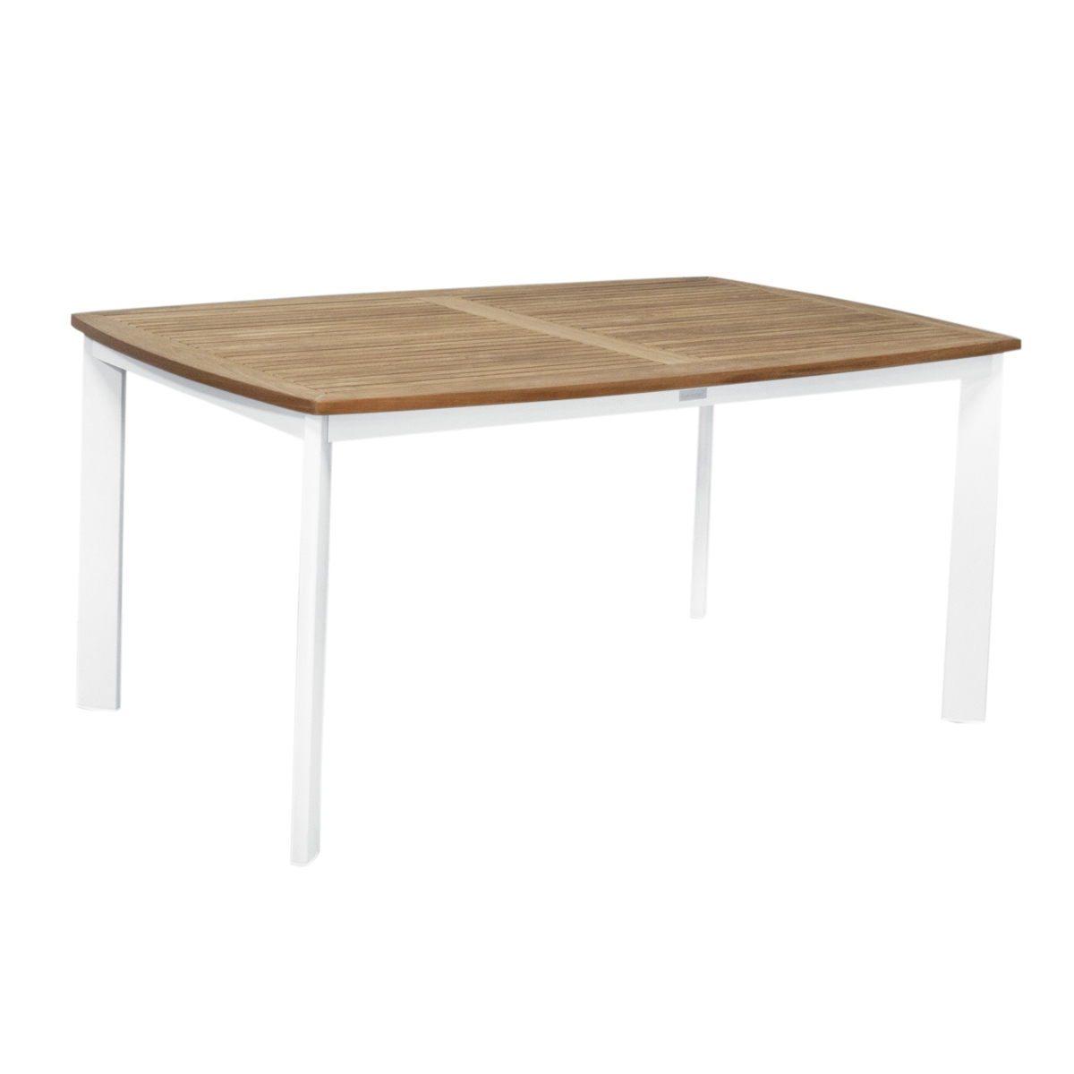 Table de jardin en aluminium teck neo tresi zendart design - Table de jardin en teck ...