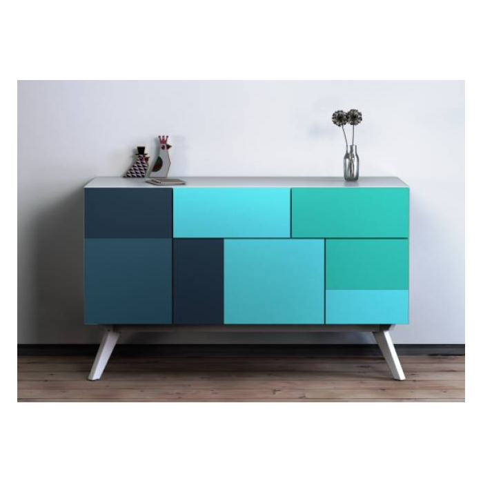 buffet color design patchwork wall2time zendart design. Black Bedroom Furniture Sets. Home Design Ideas
