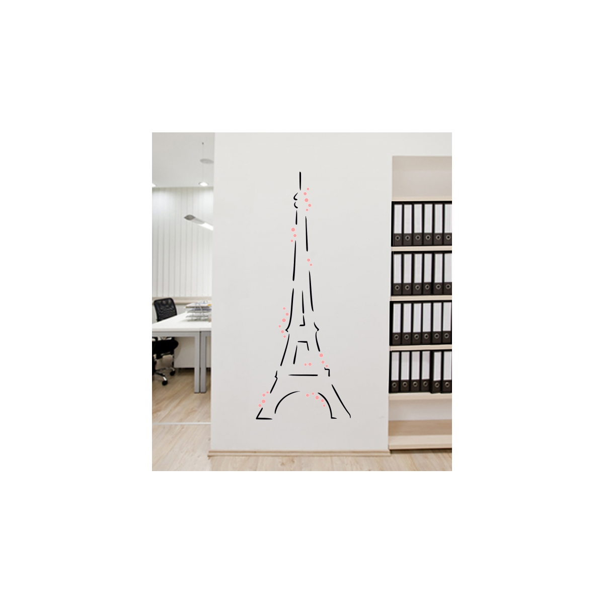 tour eiffel deco murale personnalis e wall2time zendart design. Black Bedroom Furniture Sets. Home Design Ideas