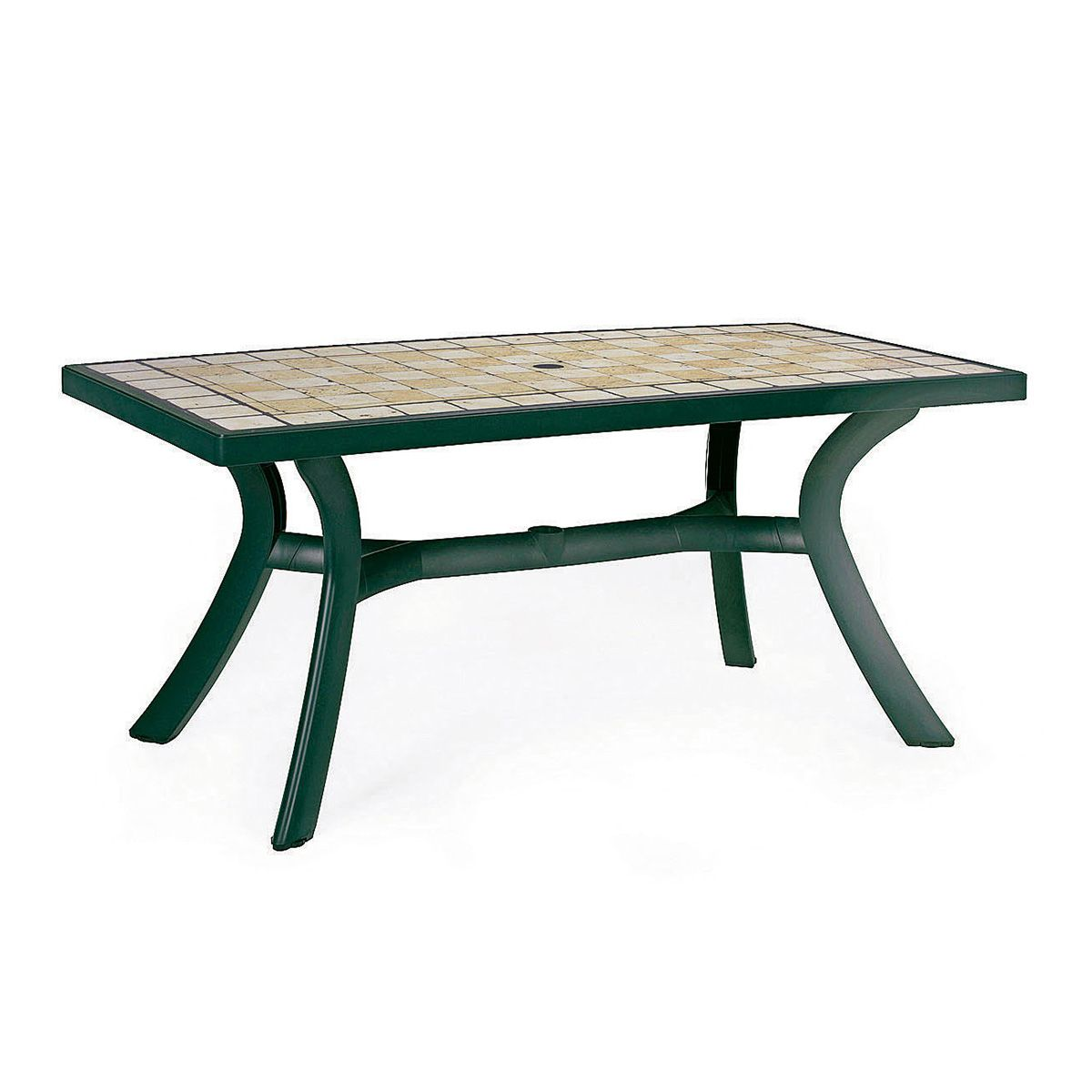 Table jardin plastique nardi toscana 160 zendart design for Meuble de jardin nardi
