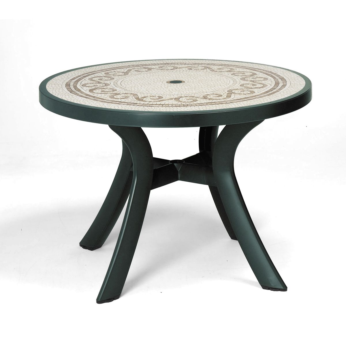 table de jardin ronde zendart design. Black Bedroom Furniture Sets. Home Design Ideas