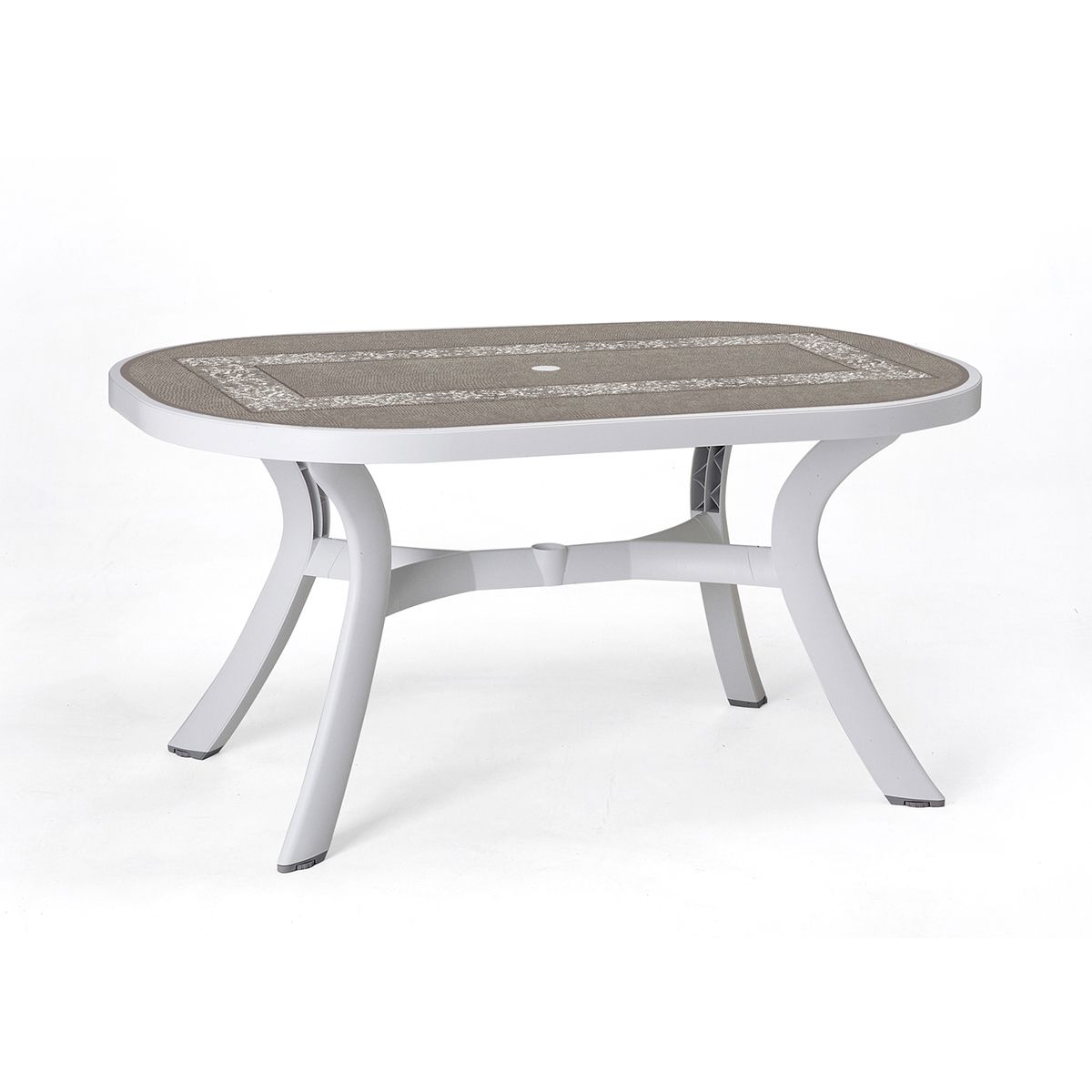 Table de jardin plastique toscana ovale zendart design for Table de jardin plastique