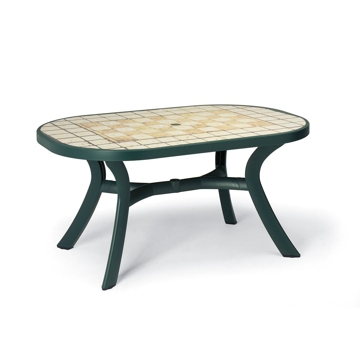 Table de jardin plastique toscana ovale zendart design - Table de jardin design ...
