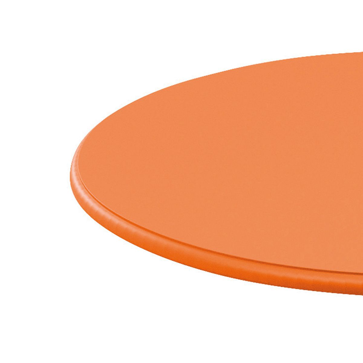 Emejing table de jardin ronde orange photos awesome for Table ronde metal