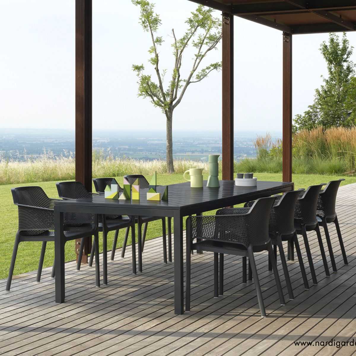 table de jardin extensible design rio nardi zendart design. Black Bedroom Furniture Sets. Home Design Ideas