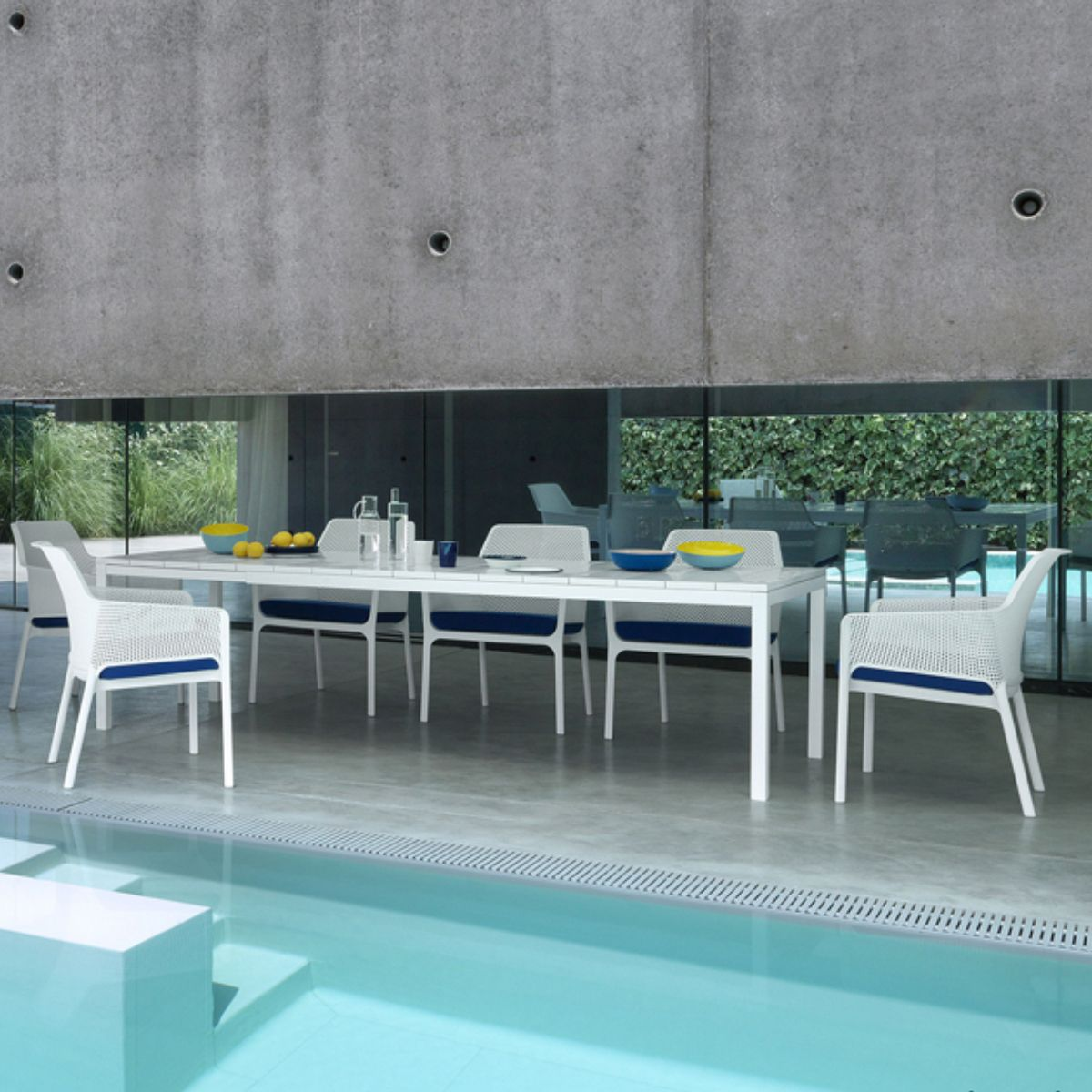 Table de jardin extensible et design Rio 100x210/280 par NARDI