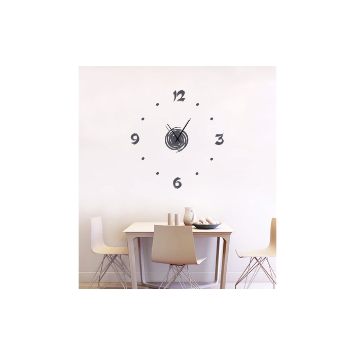 grosse horloge murale personnaliser wall2time zendart. Black Bedroom Furniture Sets. Home Design Ideas