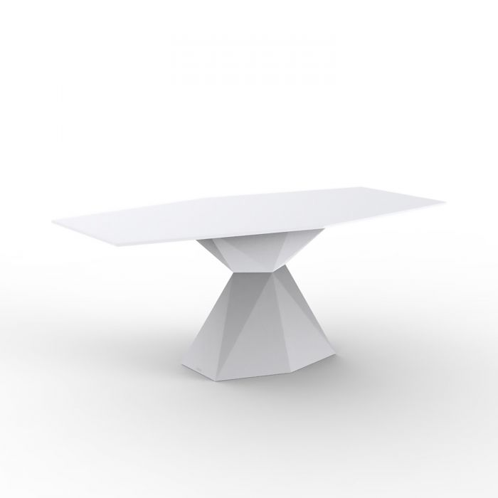 Table à manger LED & Design avec plateau verre 180 cm Vertex VONDOM