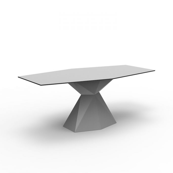 Table manger plateau verre vertex vondom zendart design - Table a repasser large plateau ...