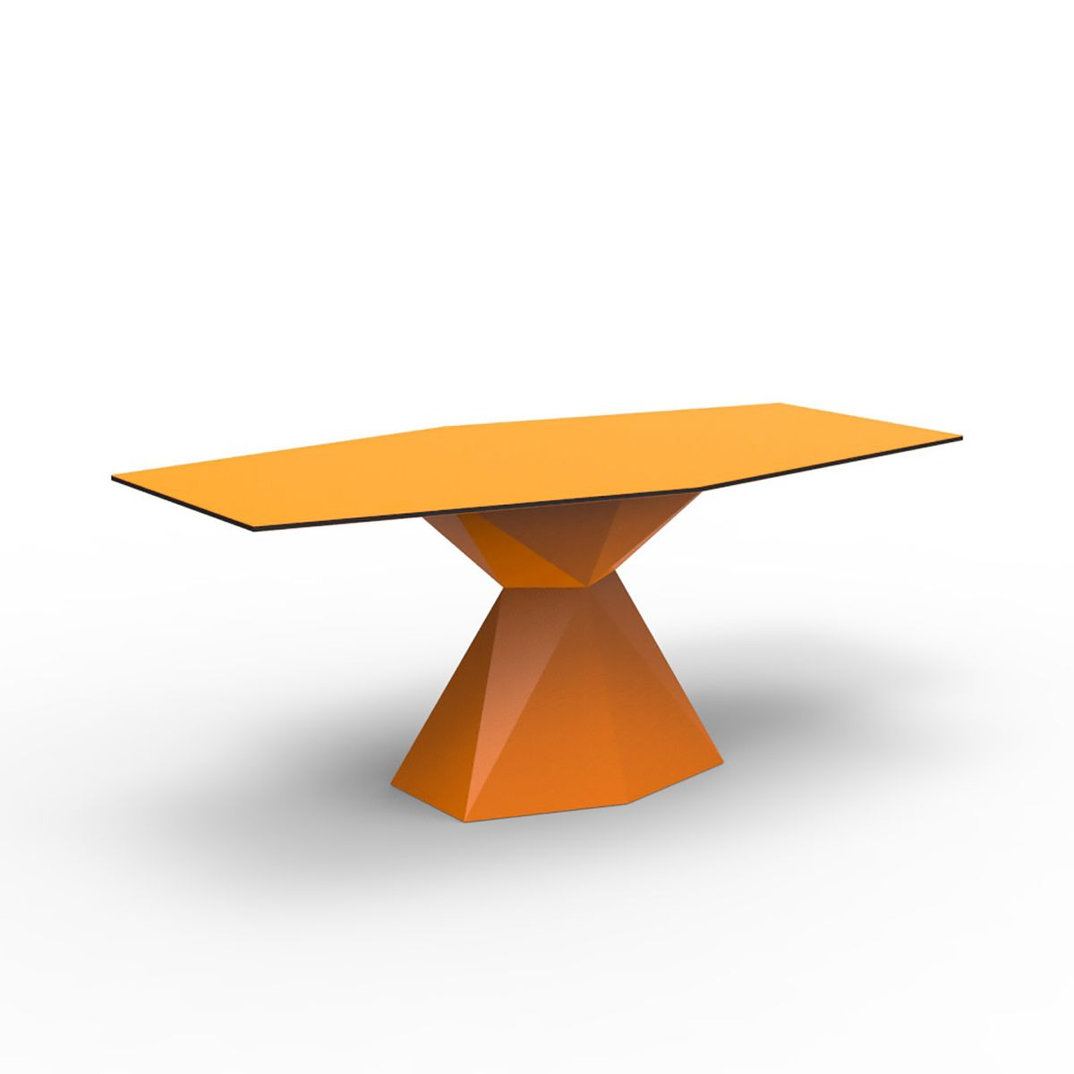 Table manger plateau verre vertex vondom zendart design for Plateau pour table a manger