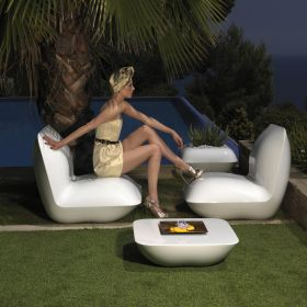 Table basse VONDOM Pillow, lumineuse