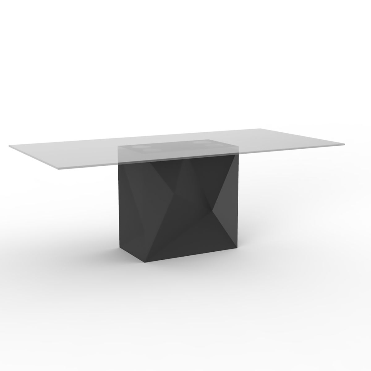 Table blanche design de repas faz hpl vondom zendart design for Table exterieur hpl