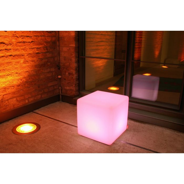 table basse cube ext rieur lumineuse led rgb moree zendart design. Black Bedroom Furniture Sets. Home Design Ideas