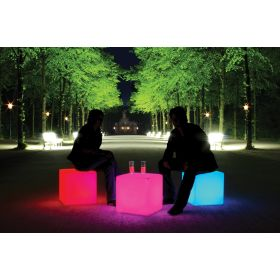 Table basse Cube Outdoor LED + Batterie MOREE