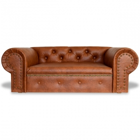 Niche pour chien OHIO Lux XL Chesterfield Brandy