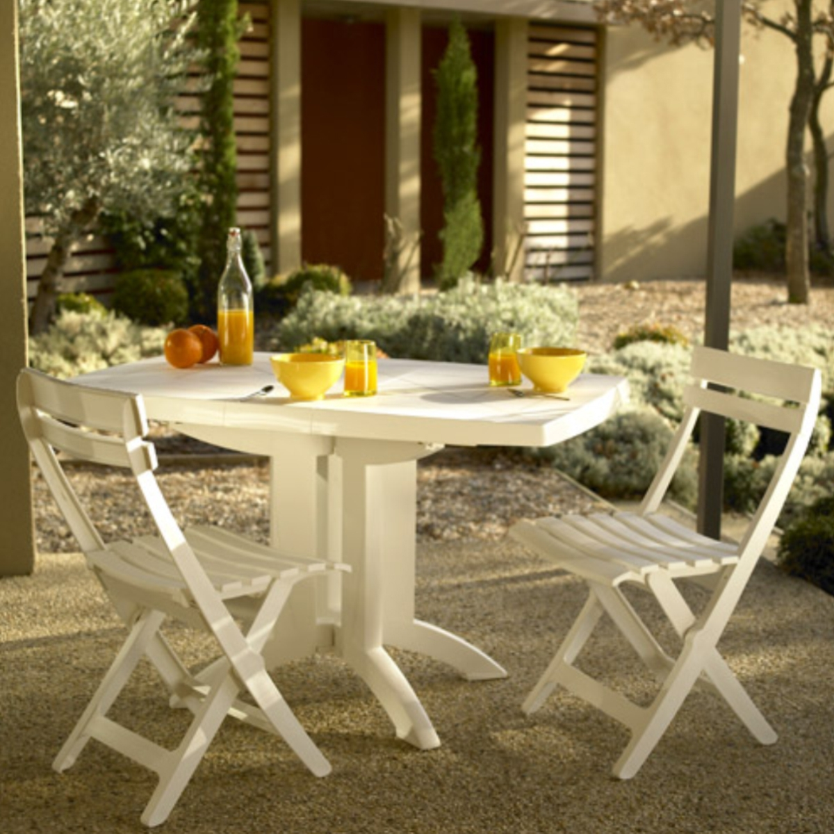table de jardin pliante vega grosfillex. Black Bedroom Furniture Sets. Home Design Ideas