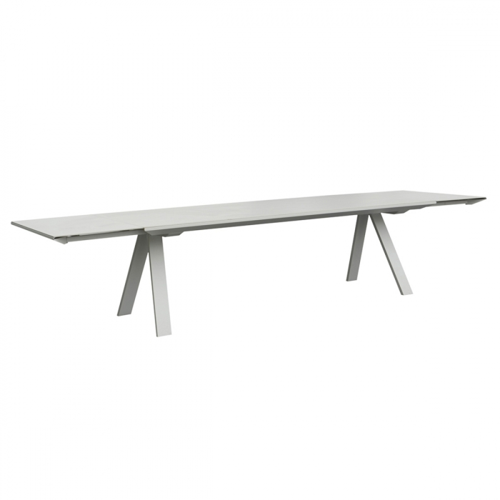 Table jardin ceramique extensible zendart outdoor for Ceramique exterieur