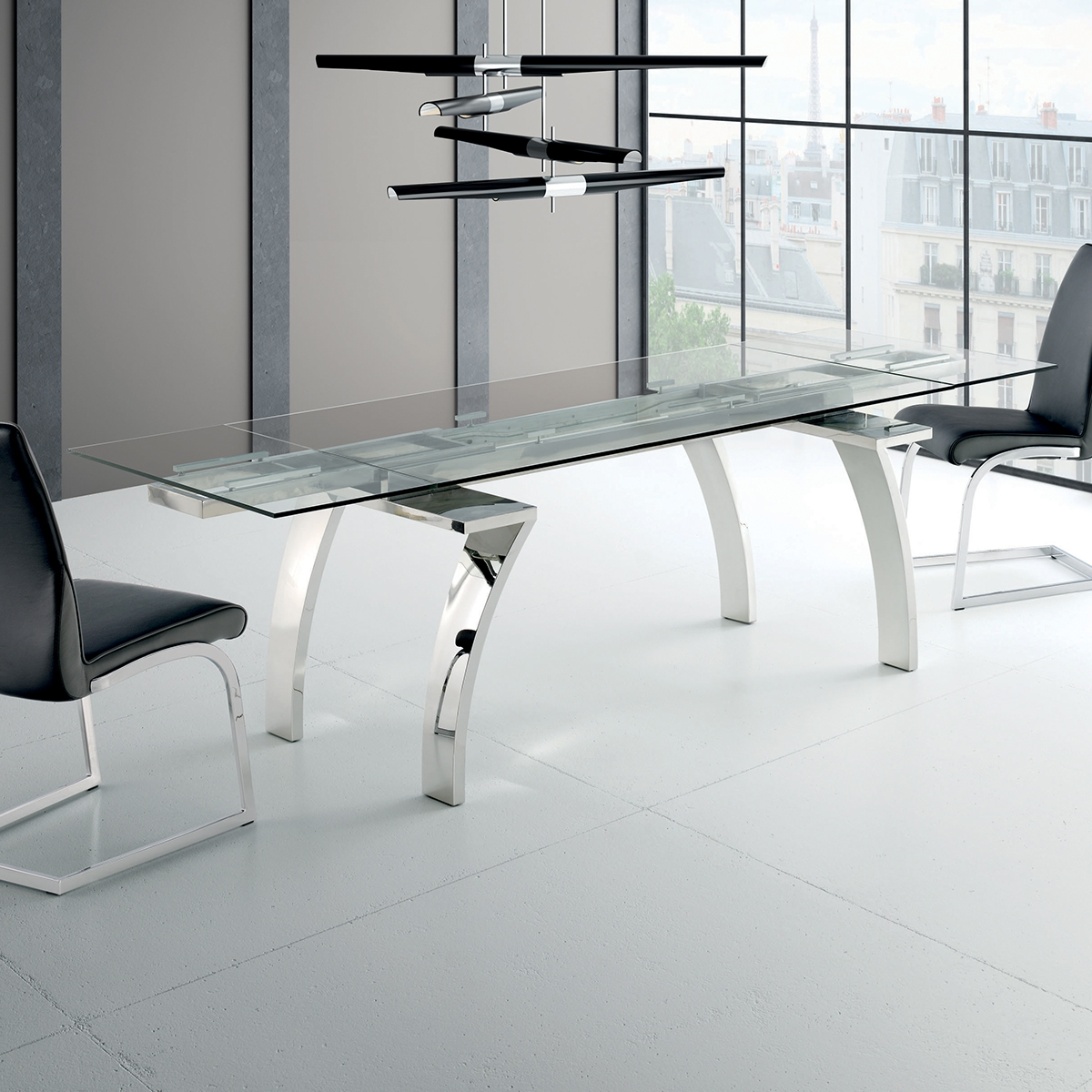table extensible avec rallonges int gr es seres zendart. Black Bedroom Furniture Sets. Home Design Ideas