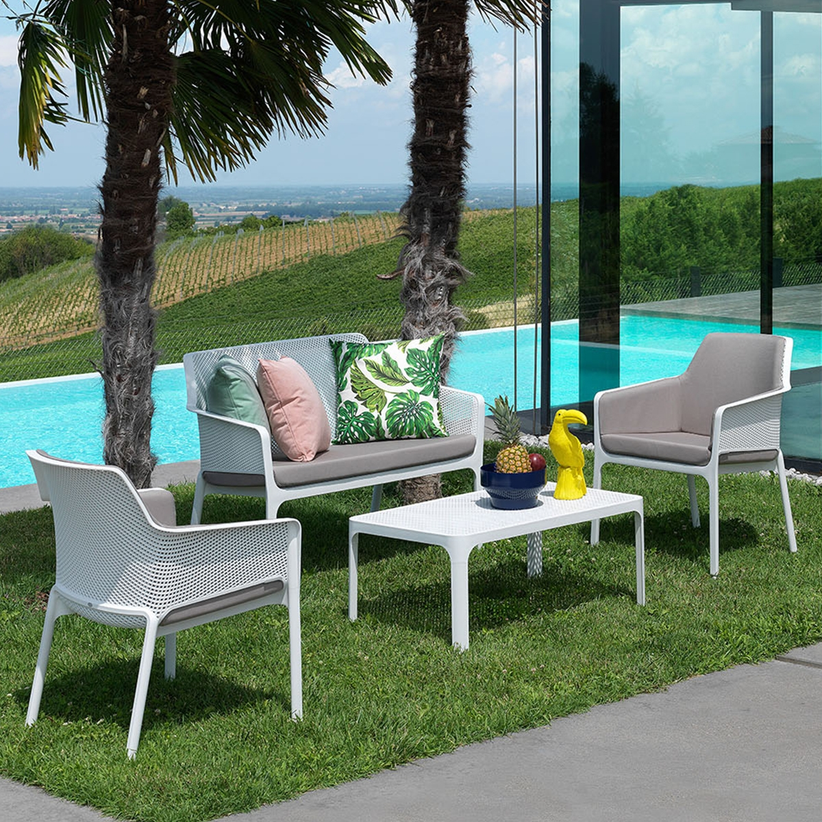 salon de jardin polypropyl ne net blanc nardi zendart design. Black Bedroom Furniture Sets. Home Design Ideas