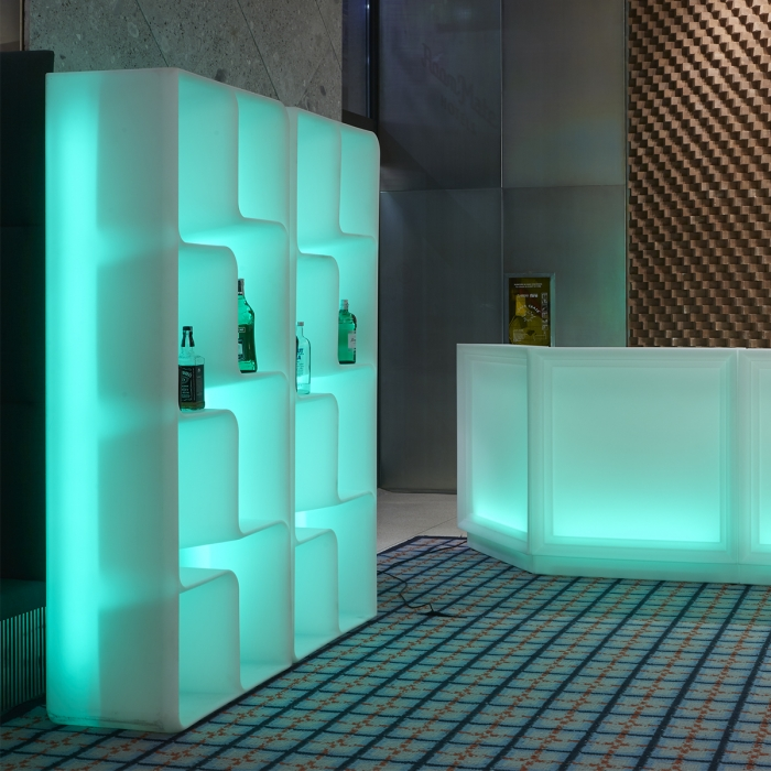 Etagère design MYYOUR Baraonda Display, LED RGB
