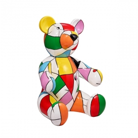 Sculpture animaux design en résine H.100 cm ours Teddy bear