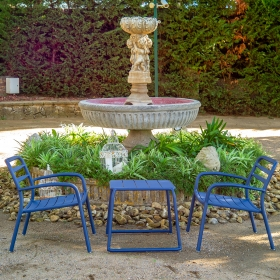 Ensemble de jardin BASEL chaise et table Tresi