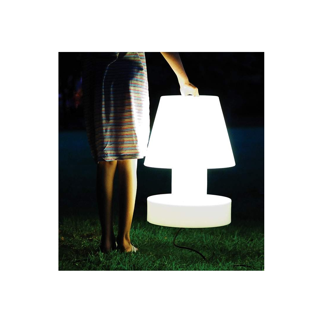 Lumi re portable sans fil bloom 56 cm lampes poser for Lumiere exterieur sans fil