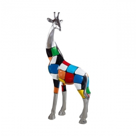 Sculpture Girafe Design et Colorée 165 cm par Zendart Design