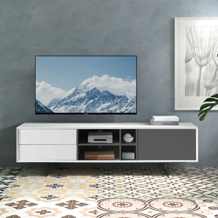 Meuble TV ultra design 141x44cm par Zendart Design