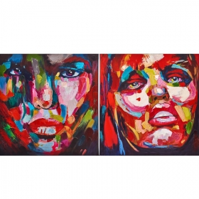Set de 2 tableaux design Femmes en couleur by ZENDART SELECTION