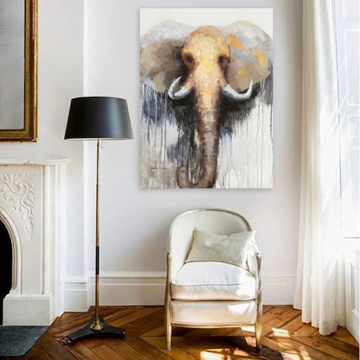 Tableau figuratif Elephant by ZENDART SELECTION