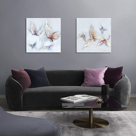 Set de 2 tableaux Papillons par ZENDART SELECTION