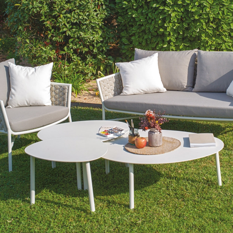 Set de 3 tables gigognes d'exterieur par Zendart Design Outdoor
