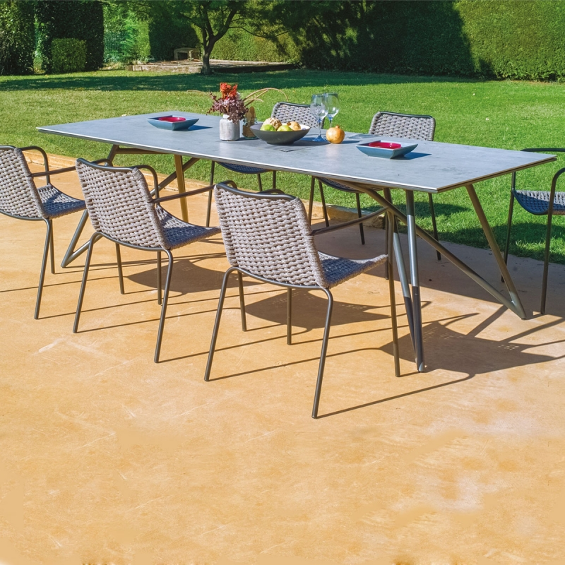 Table de jardin 240 cm Louve par Zendart Design Outdoor