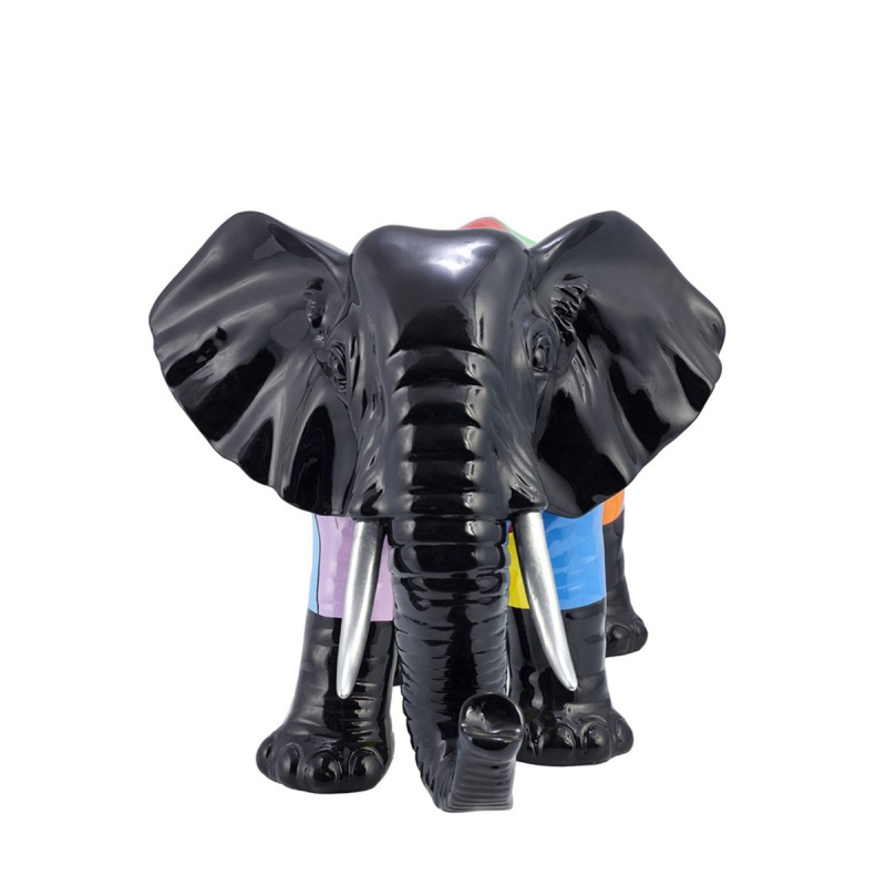 Sculpture éléphant  en résine multicolor  H.36 L.54 cm de ZENDART DESIGN SELECTION