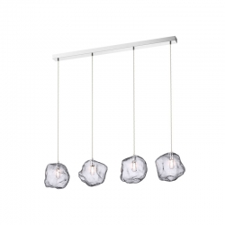 Grande suspension design Rocher à 4 lampes par Zumaline