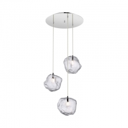 Suspension design Rocher à 3 lampes par Zumaline